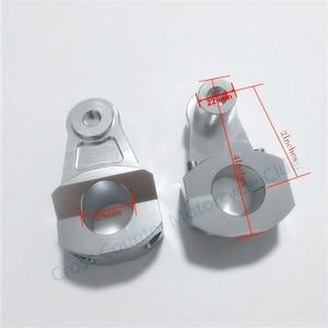 Image 5 - Guidão universal anodized 2 Polegada para motocicletas, elevação para barras de 22mm ou 28mm, braçadeira para suzuki yamaha kawasaki honda bmw