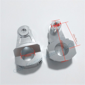 Image 5 - Universal Anodized 2 Inch Pivoting Motorcycle Handlebar Riser For 22mm or 28mm  Bars Clamp for suzuki yamaha kawasaki bmw honda