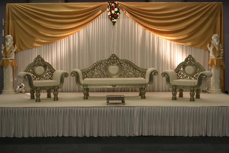 3 6m White And Gold Silk Wedding Backdrop Wedding Curtain Backdrop Wedding Drape
