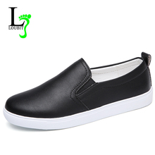 Women Sneakers 2020 Summer Flats Shoes Slip On Female Casual Loafers Breathable Footwear PU Sneakers Flat Comfortable Shoes 41