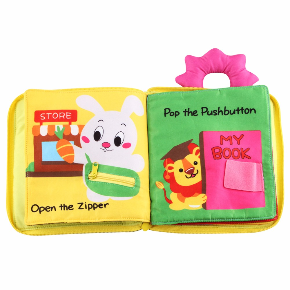 Baby Cloth Book Early Education Portable Color Shape Cognition Dressing Children Educational Three-dimensional Toy