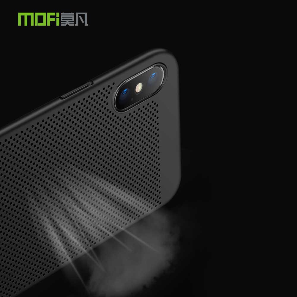 Mofi para iphone xs max caso para iphone xr capa de luxo pc plástico caso do telefone para iphone 8 plus xs x 10 8 capa traseira à prova de choque