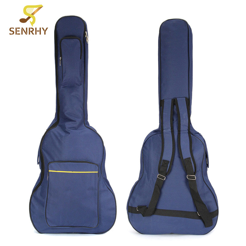 SENRHY 40 41'' Classical Acoustic Guitar Backpack Ukulele Carry Case Padded Gig Bag with Double Straps Guitar Parts Accessories 36 backpack gig bag carry case for ukulele acoustic guitar durable black blue