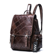 Europe and the United States fashion trend style mosaic diamond lattice womens luxury brand backpack cover women travel bags