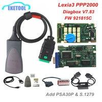 Lexia3 + PSA 30Pin + S.1279 Conjuntos Completos Firmware 921815C V7.83 Para Citroen Peugeot Diagbox Lexia 3 V48 PP2000 v25 Borda Dourada