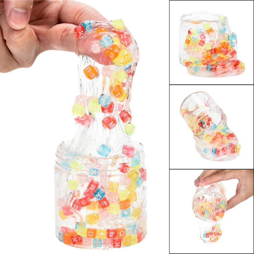 CHAMSGEND toy Plasticine Mixing Colourful Letter Clear Clay Toys Slime Squishy Putty Scented Stress Kids plasticine toys AP5