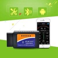 ELM327 sem fio OBDii Leitor de Código de Varredura Do Bluetooth Ferramenta de Diagnóstico Do Motor Do Carro para Android para A Maioria Dos Veículos OBD2 Ferramenta de Diagnóstico
