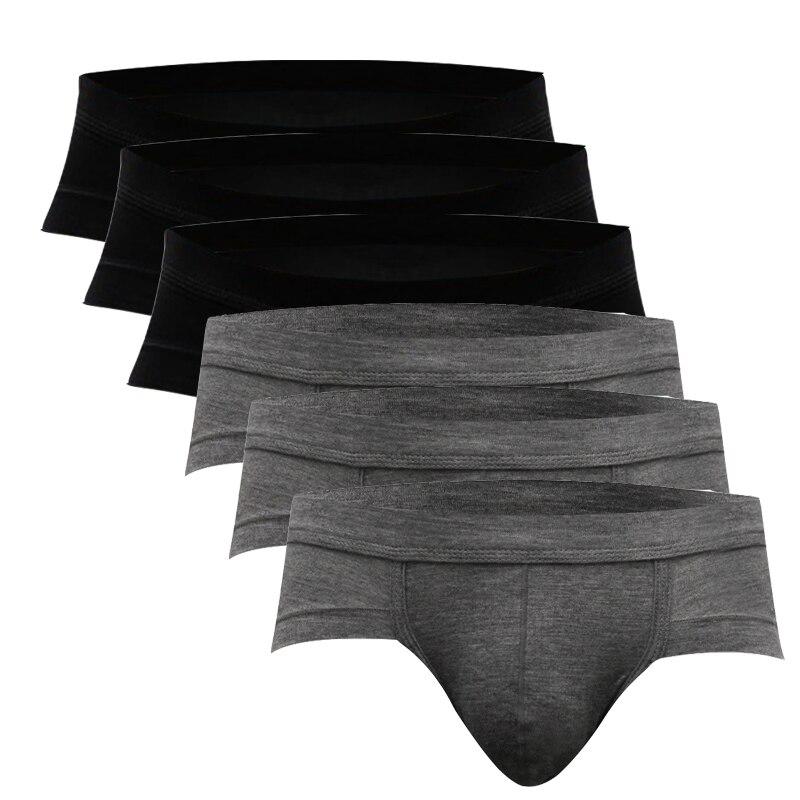 Hot Selling New Mens Underwear Briefs Modal Low Waist Underpanties For Men Male Panties Briefs Ropa Interior Hombre XL XXL XXXL