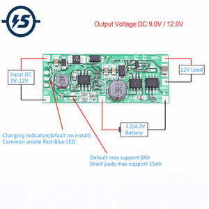Charging Step Up Booster Module DC 5V-12V to 9V/12V for 18650 Lithium Battery UPS Voltage Protection Converter Charge Discharge(China)
