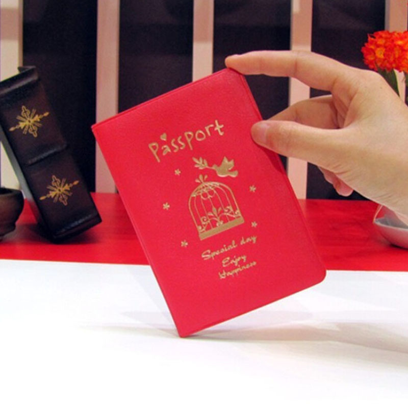 Women Men PU Leather cover brand Unisex Travel Passport Holder Cover on the passport ID Credit Card Holder Passport