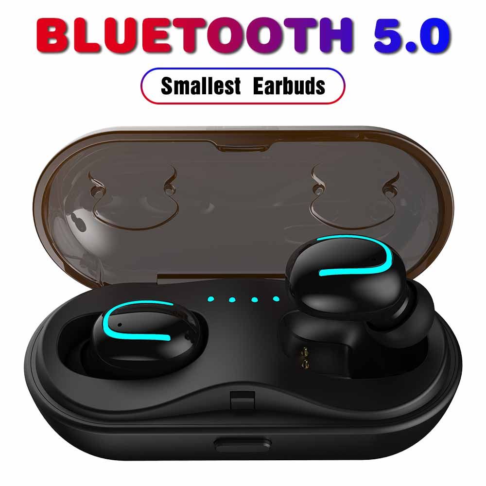 5.0 Mini TWS Earbuds Wireless Bluetooth Earphones Headphones for All Bluetooth Devices Waterproof Good Bass Sports Running