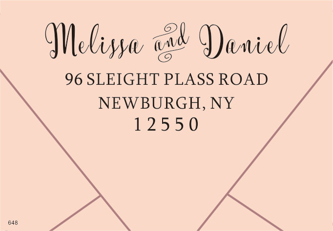 return address stamp for wedding custom personalized self inking