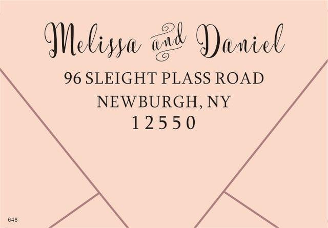 Custom Return Address Stamp 2 5 X1 Self Inking Personalized Wedding Rubber