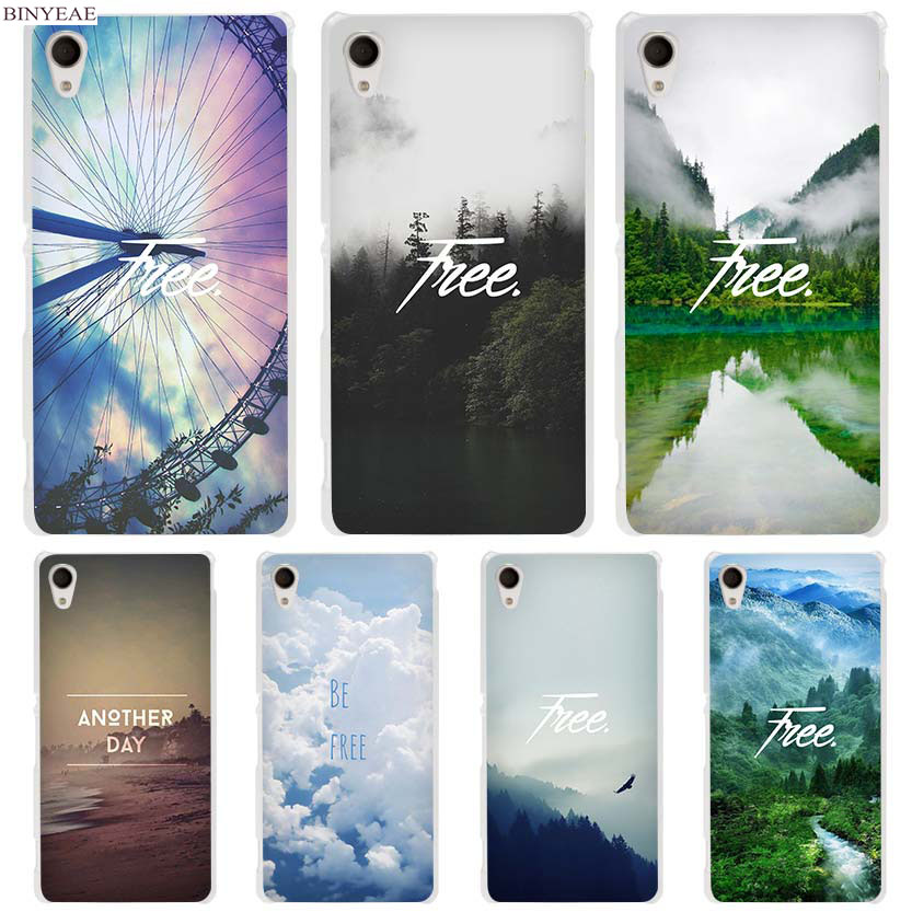 BINYEAE Forest Mist Sky Free Clear Case Cover for Sony Xperia z1 z2 z3 z4 z5 m4 Aqua m5 X XA XA1 XZ E4 E5 Compact C4 C5
