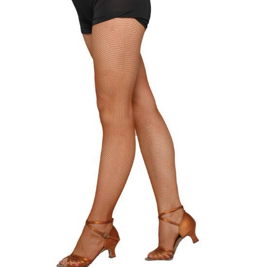 2018 Women Mesh Latin Stockings Tiptoe Encryption Caramel Color Professional Latin Stocking Pantyhose