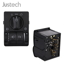 Justech 6240097 Car Switch Headlight Control Panel For Opel Astra G Zafira A Driving/Parking/Fog/Instrument/Main Light Switch