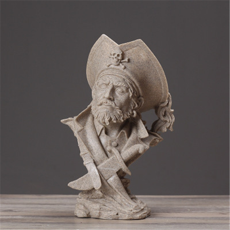 Pirate Captain Half-Length Photo Or Portrait Statue Craftwork Home Furnishing Articles G801Pirate Captain Half-Length Photo Or Portrait Statue Craftwork Home Furnishing Articles G801