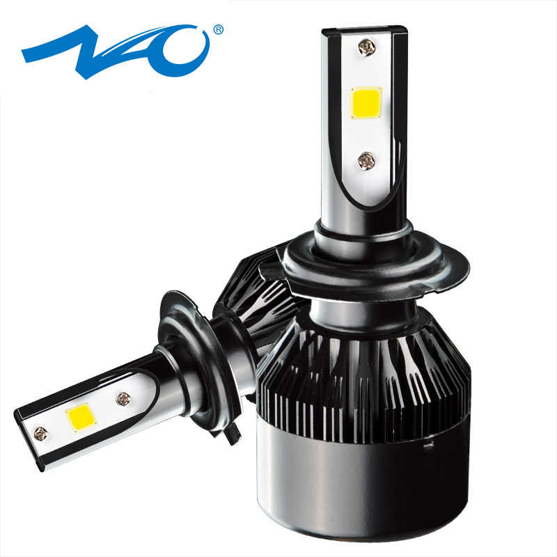 NAO H11 LED Headlight Car H4 H1 H7 H8 H9 9005 HB3 9006 HB4 32W 3500Lm LED Bulb Automobile Lamp COB External Light F2