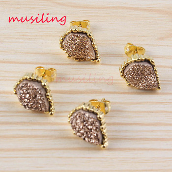 Mini Earrings Jewelry For Women Natural Stone Crystal Quartz Earring Charms European Fashionable musiling Jewelry 10Pairs