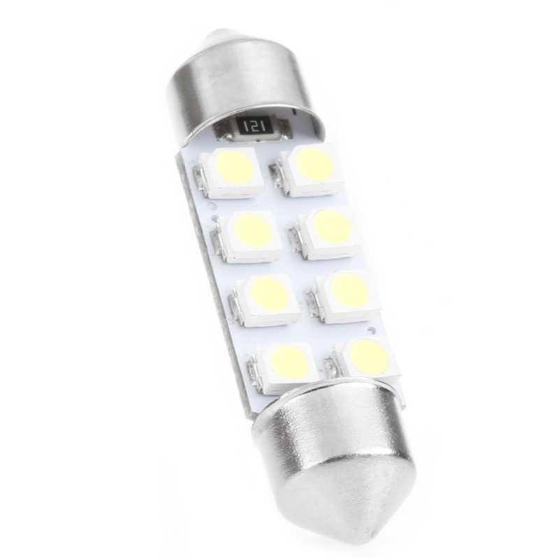 1 Pc 41mm lumière LED 1210 8 SMD voiture dôme Double pointe toit ampoule lampe de lecture