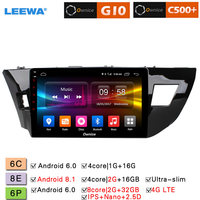 LEEWA 10.1 2.5D Nano IPS Screen Android 8.1 8 Core/DDR3 2G/32G/4G LTE Car Media Player With GPS/FM For Toyota Levin 2013 2018
