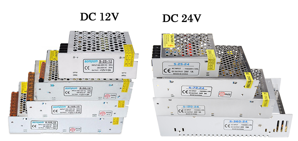 EeeToo LED Driver Power Supply DC 12V 24V Switching Power Adapter 1A 2A 3A 5A 6A 8A 10A Electronic Transformer AC220V for Strip (1)
