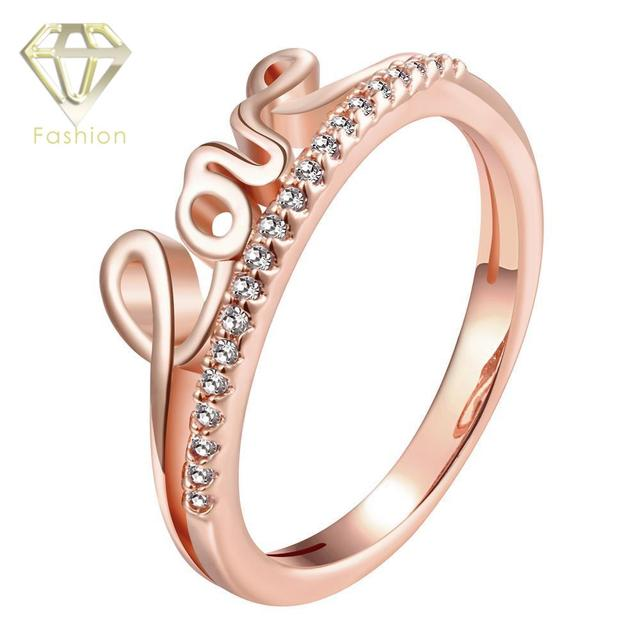 true love waits ring romantic rose gold color with cute love letters promise