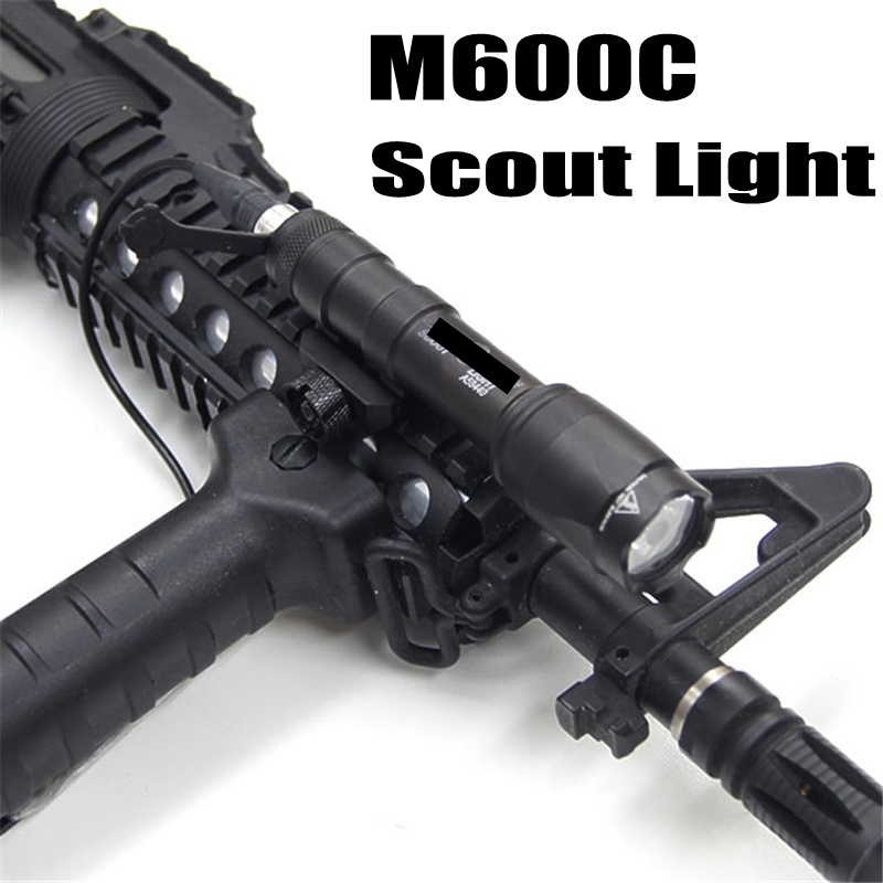 Softair M600C Tactical Flashlight LED Scout Light Lanterna Airsoft Arma Military Gun Lamp Weapon Rifle Hunting Light