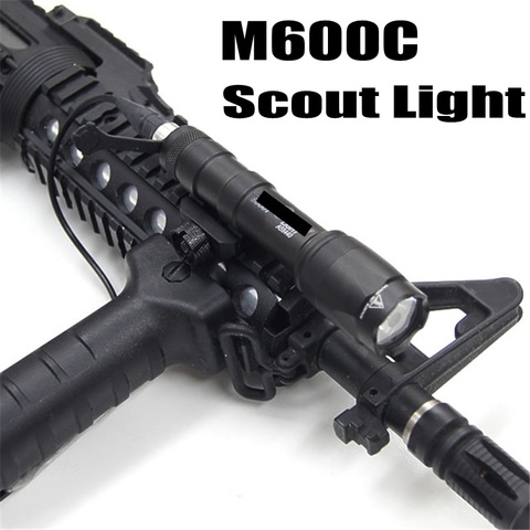 softair m600c tactical lanterna led luz olheiro lanterna lampada arma arma rifle de caca airsoft