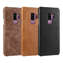 For Samsung Galaxy S9 Plus Case S9+ Luxury Retro Cowhide Case Genuine Cow Leather Phone cover for Samsung Galaxy S9 S 9 Case samsung s9 case luxury original genuine suede leather protector case samsung galaxy s9 plus case galaxy s9 s9 ef xg960 ef xg965