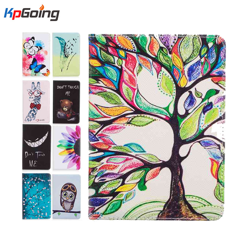 Cute Art Painting Flip leather case cover for new kindle 2016 8th generation fundas for amazon kindle 8 Generation 2016 cases hot case cover for amazon new kindle 2016 8th 6 generation ebook pu leather painted inner frame for 6 inch pen screen film