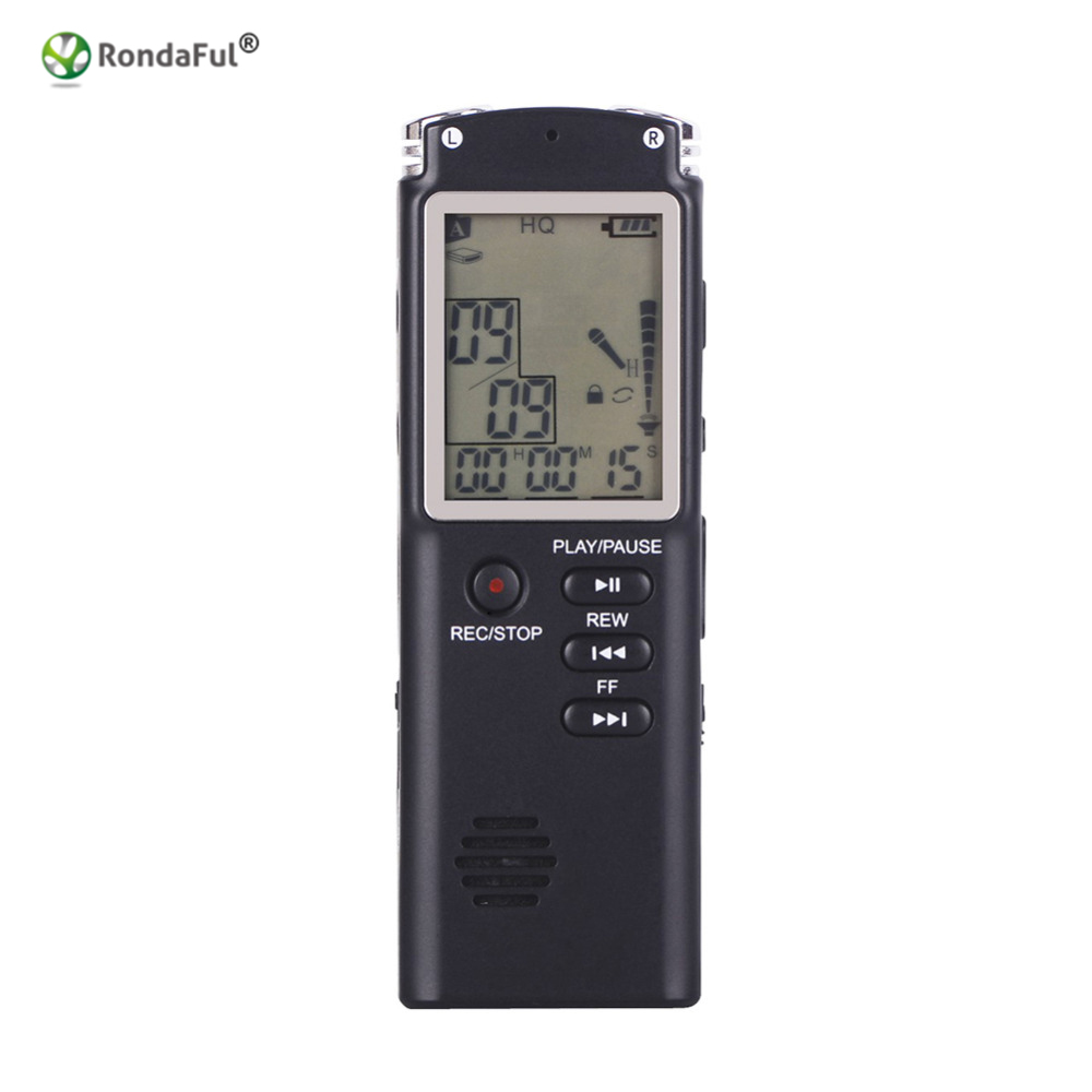 USB 8GB Portable Rechargeable LCD Digital Audio Voice Recorder Dictaphone Player With Clear Sound Quality Large Screen Long Time