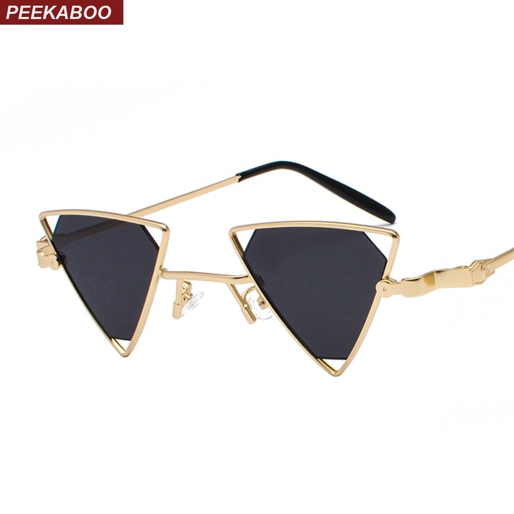 1b0ddd849a037 Detail Feedback Questions sobre Peekaboo triângulo óculos de sol das  mulheres do vintage do punk do metal quadro amarelo rosa preto vermelho  óculos de sol ...