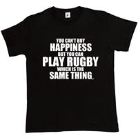 You Can't Buy Happiness But You Can Play Rugbyer Mens T-Shirt New 2017 Hot Summer Casual T Shirt Printing Interesting Pictures