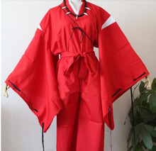 Hot sale!  InuYasha Feudal Fairy Tale InuYasha Cosplay Costume halloween free shipping