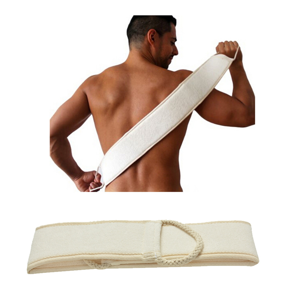 1 Pc Exfoliating Natural Shower Massage Soft Strap Health Bath Brush Spa Sponge Loofah Scrubber Body Back Skin Cleaning