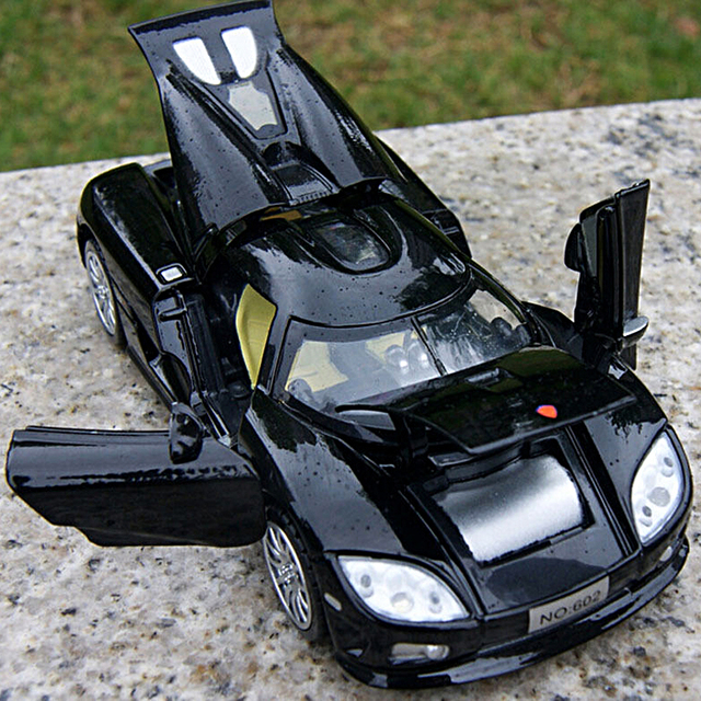 kids toys 132 scale koenigsegg electronic car model toys children collection diecasts with light