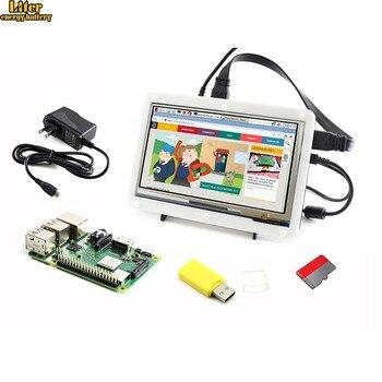 Raspberry Pi 3 Model B+, Development Kit, 7inch HDMI LCD (C), Bicolor case, 16GB Micro SD card, Power Adapter