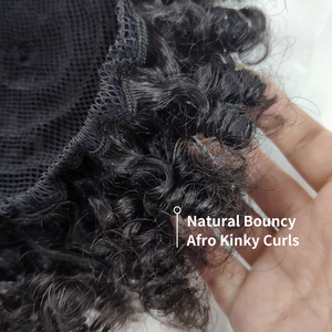 Image 4 - ガブリエル 4B 4C ブラジルアフロ変態カーリー毛巾着ポニーテール 8 インチ人毛自然な色の Remy 毛延長