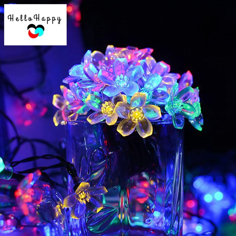 50led Decorative Flower Outdoor Garden Solar String Light