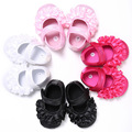 2017 Newborn Baby Girl Shoes Spring Summer Big Flower Pink Cotton Shoes Infant Toddler First Walker For Baby 0-18 Months