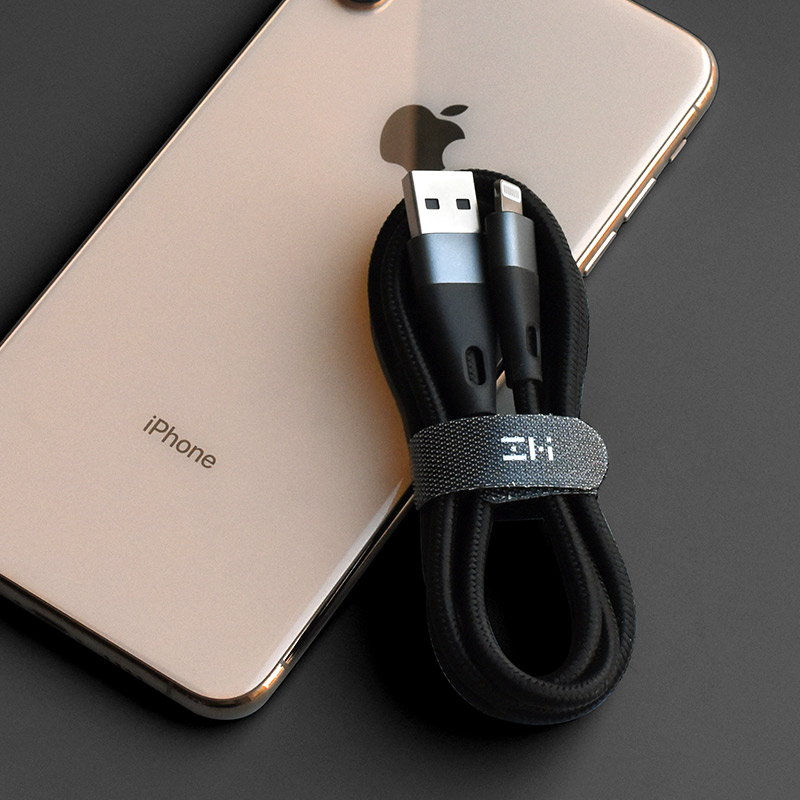 Image 5 - ZMI New Lightning USB Cable MFi Certified Premium Nylon PP Braided Sleeve Charger Cable For iPhone 1M/2M AL806 Data Sync Cables-in Mobile Phone Cables from Cellphones & Telecommunications