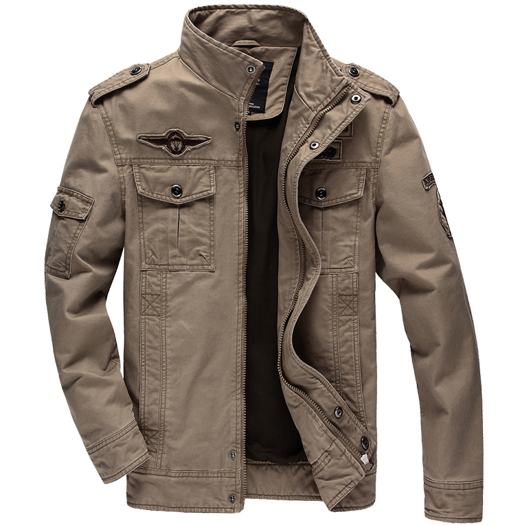 LONMMY M 6XL Cotton mens jackets and coats man Army Military ...