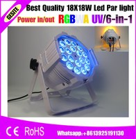 2pcs Lot 18pcs 18W RGBWAUV High Power 18W 6in1 Stage Led Par Cans On