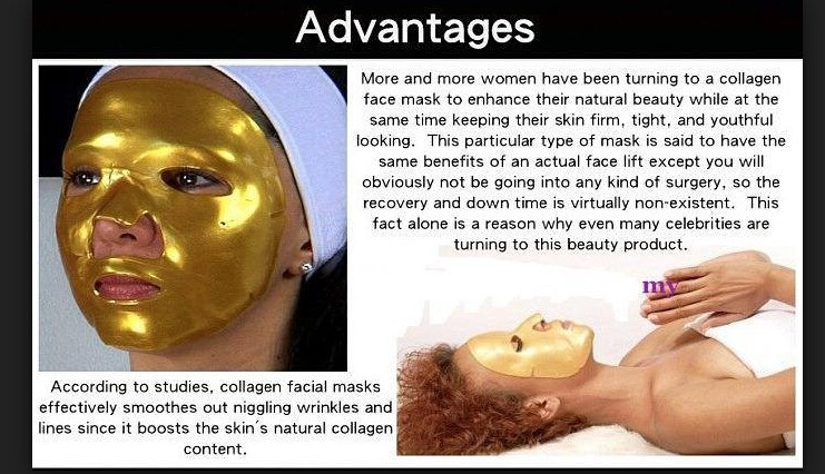 24K GOLD Active Face Mask Powder Brightening Luxury Spa Anti Aging Wrinkle Treatment Facial Mask 300g 11