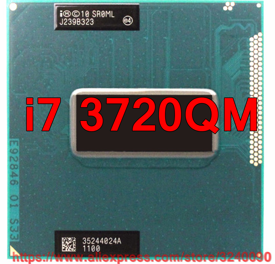 Original lntel Core i7 3720qm SR0ML CPU 6M Cache 2 6GHz 3 6GHz Quad Core i7