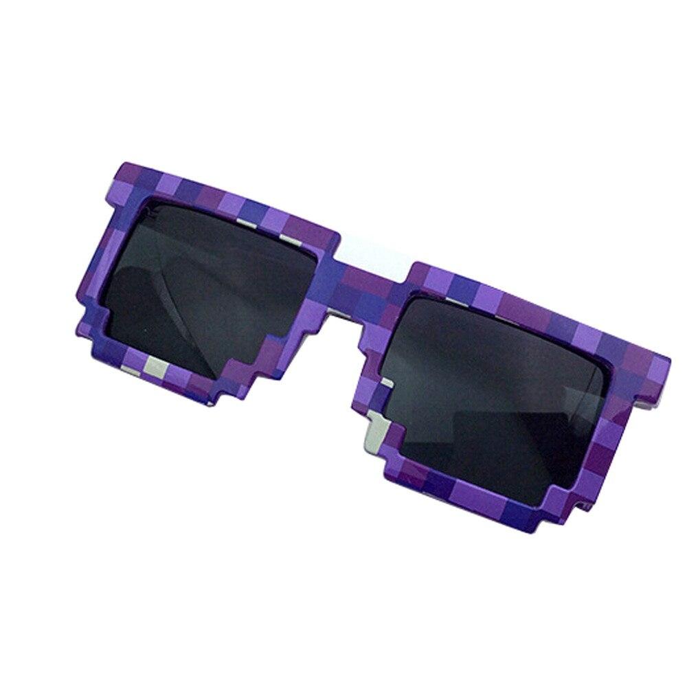 Painstaking Vintage Trendy Square Novelty Mosaic Unisex Pixel Sunglasses Retro Lattice Sunglasses Cute Sunglasses 2018 F80 Men's Glasses Apparel Accessories