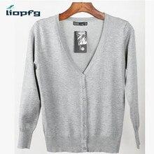 2017 Large Size Female cardigan  Nieuwe Kleuren Vrouwen Trui Plus Size v-Hals Gebreide  Sweater  Colour Cardigans 4XL Wm151