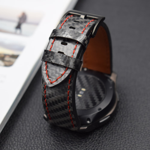 Newest Real Carbon Fiber Watch Band For Galaxy Watch 42mm 46mm Gear S3 Classic Watch Bracelet