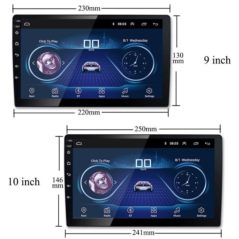 910 Polegada android 8.1 rádio do carro